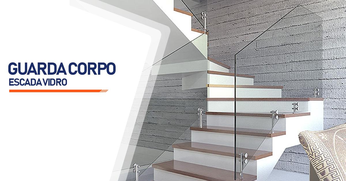 Guarda Corpo Escada Vidro  Curitiba