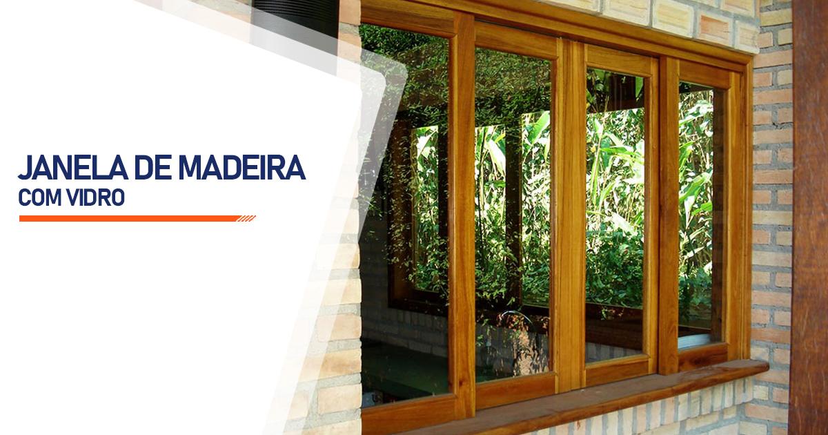 Janela De Madeira Com Vidro Curitiba