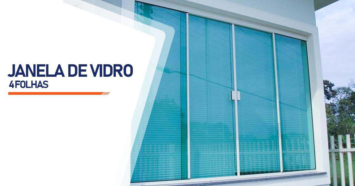 Janela De Vidro 4 Folhas Curitiba