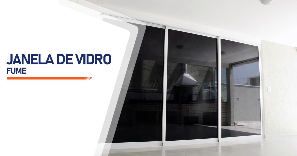 Janela De Vidro Temperado Fume Curitiba