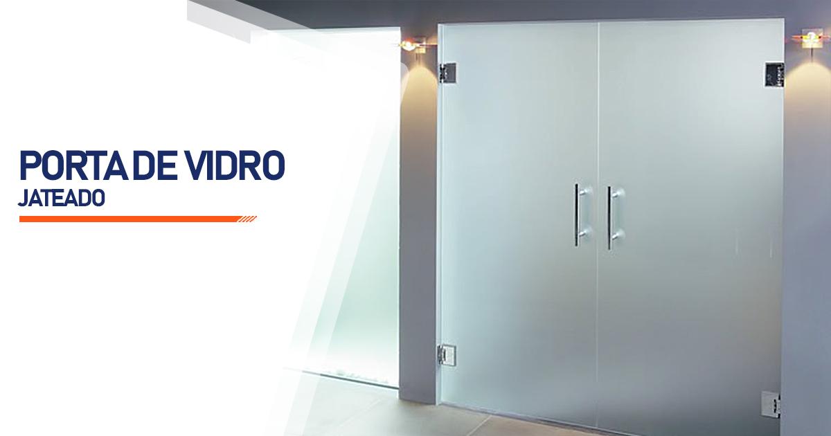 Porta De Vidro Jateado Curitiba